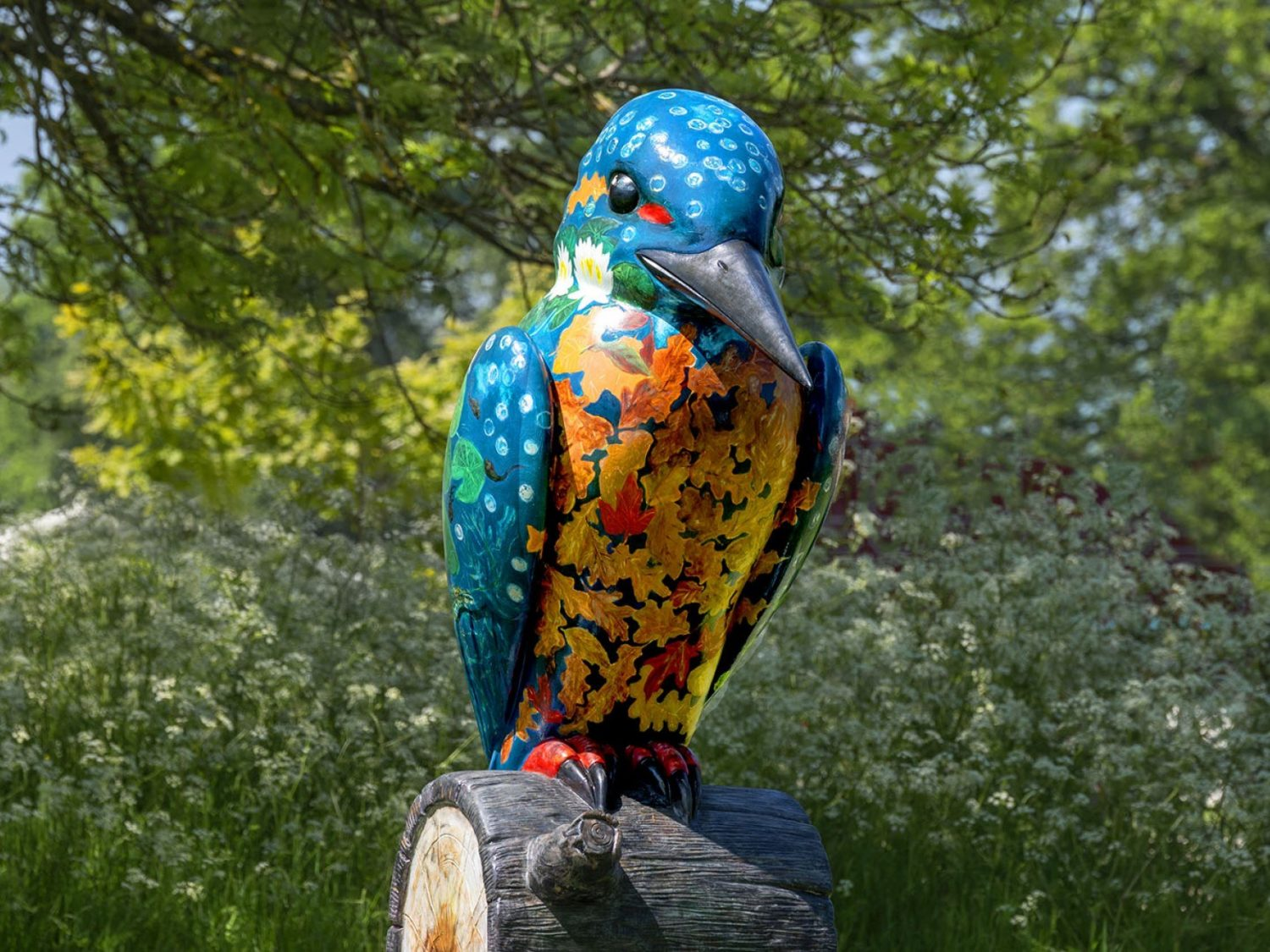 Kingfisher Sculpture at Sudeley Castle