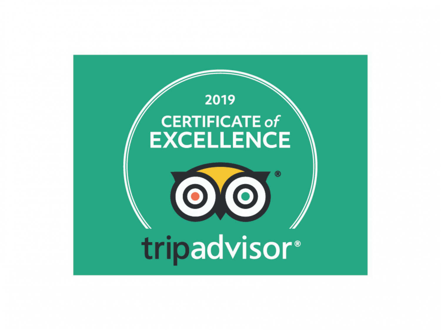 2019 Certificate of Excellence Trip Advisor Logo