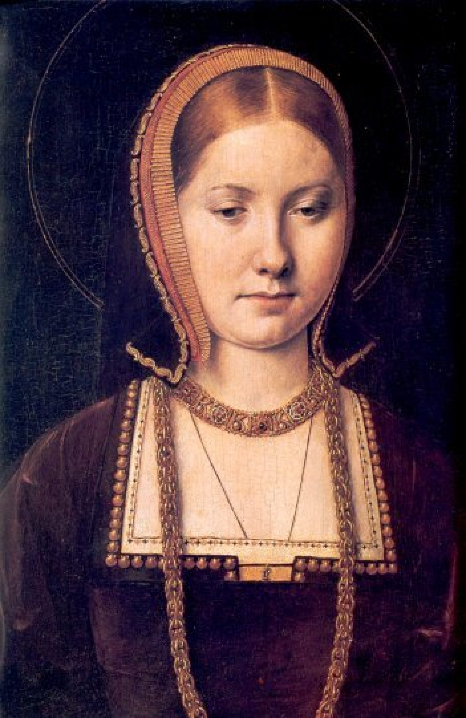 Head and shoulders portrait of Katherine Parr