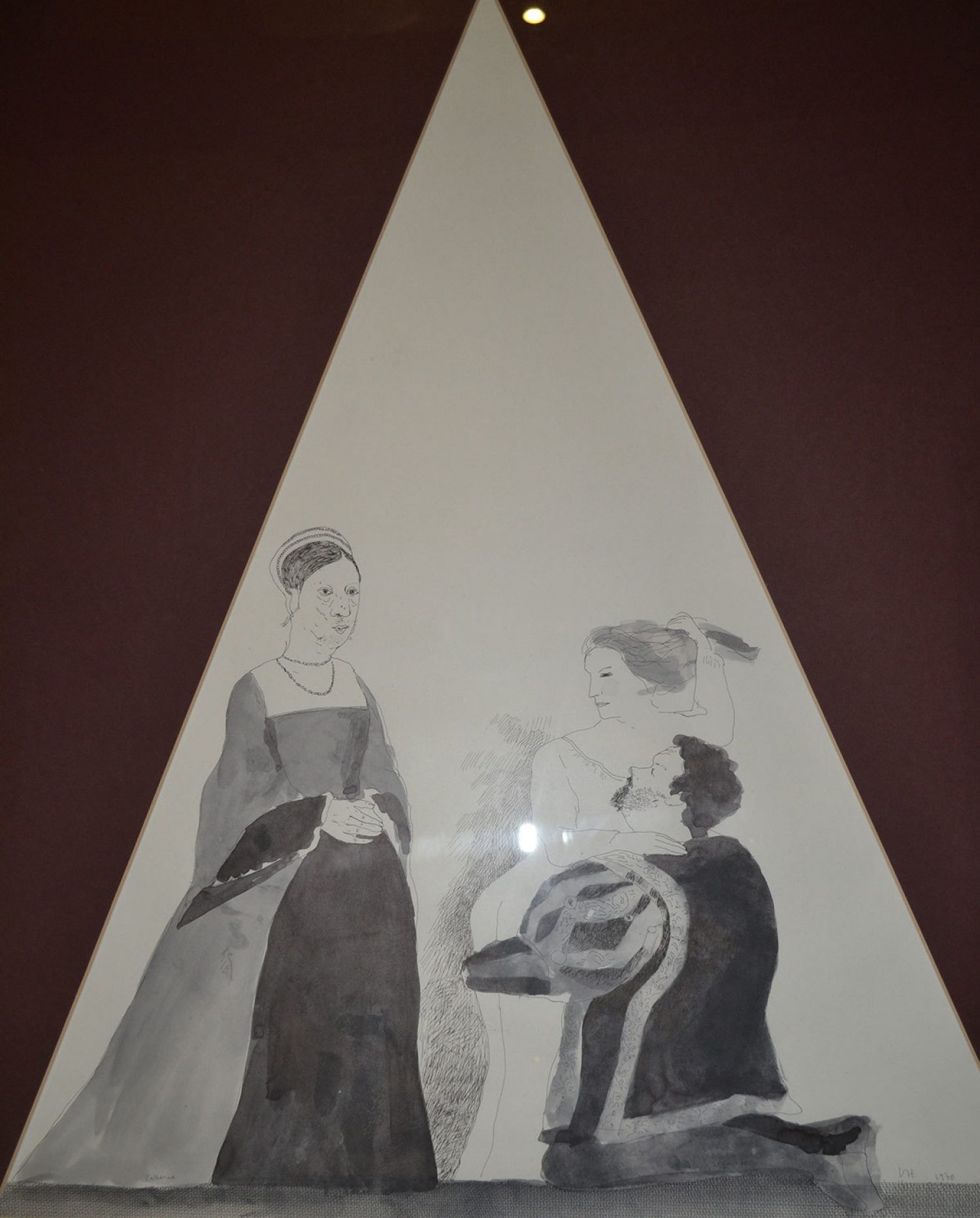 Illustration depicting love triangle of Katherine Parr