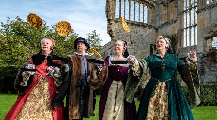 Image for Royals have a flipping good time as Sudeley Castle re-opens for the new season