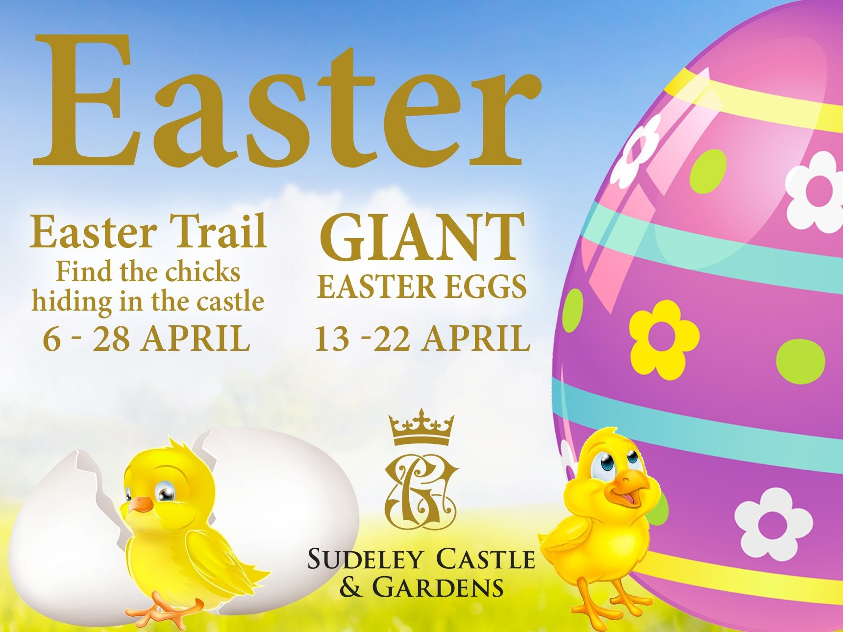 easter trail activities at sudeley castle