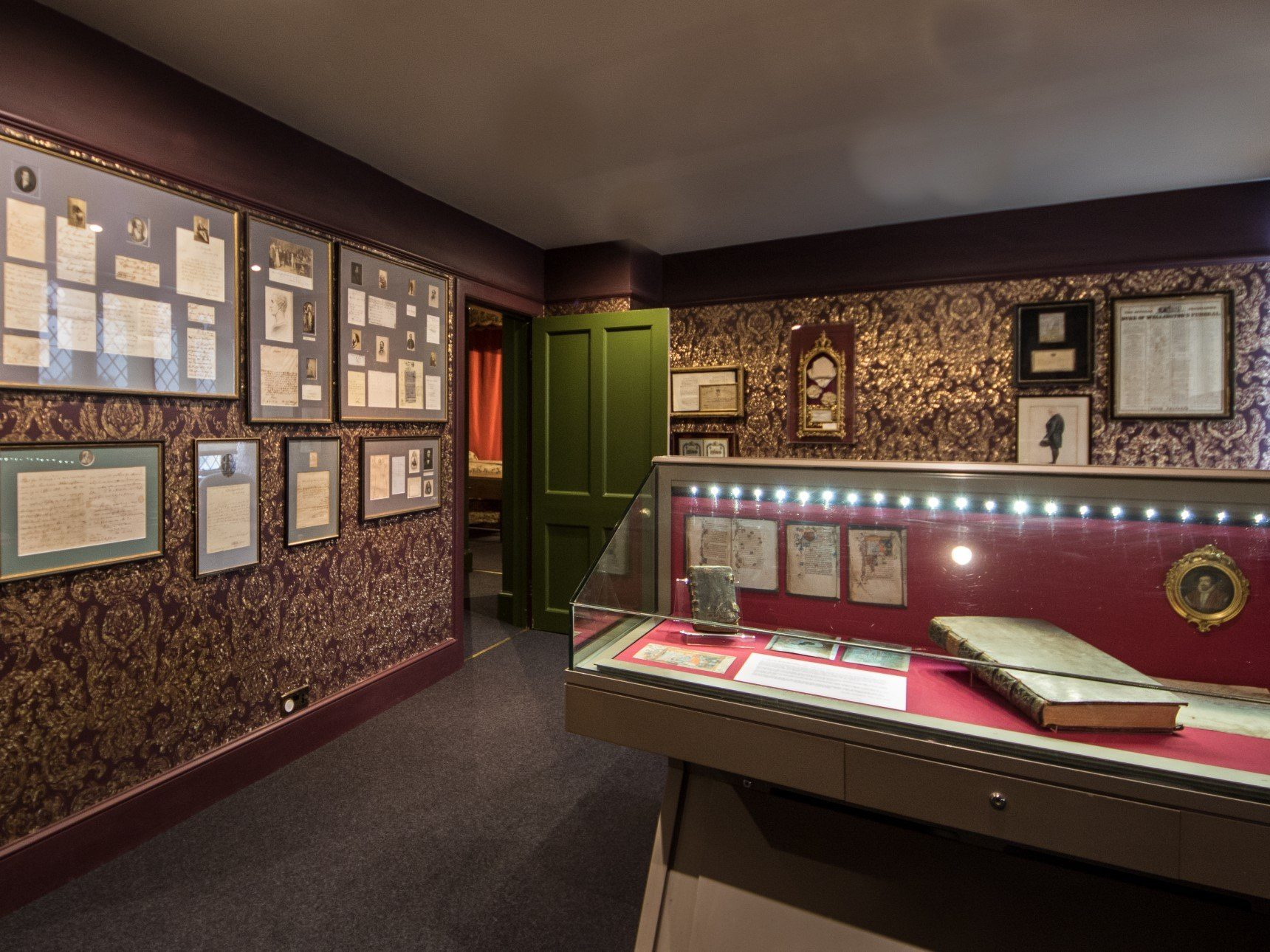 Document room containing autograph collection