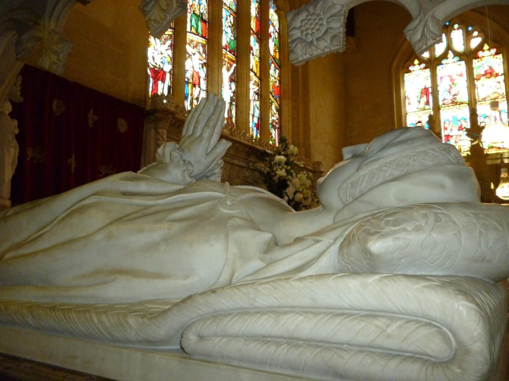 Close up of Katherine Parr's Tomb