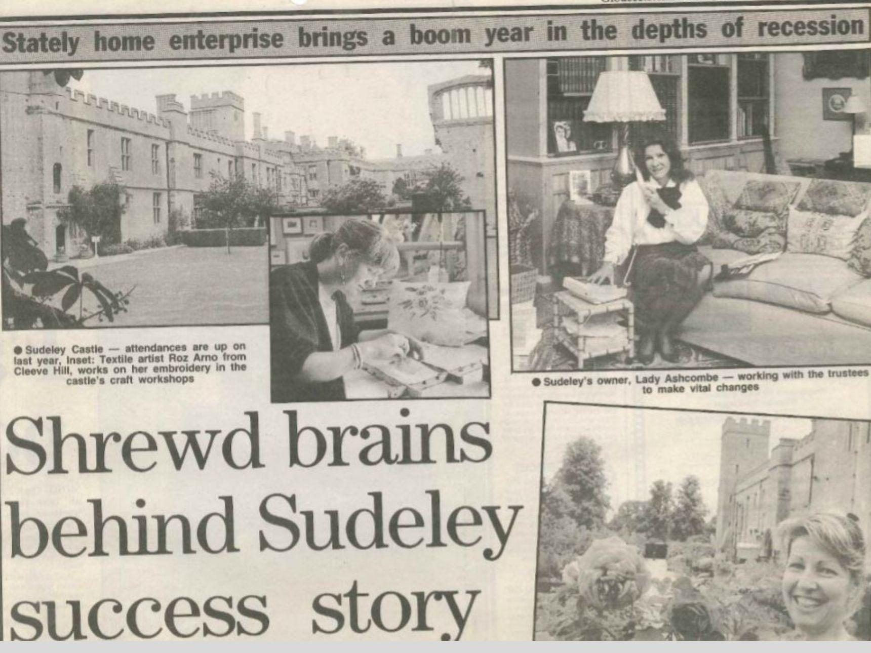 Newspaper cutting headlined