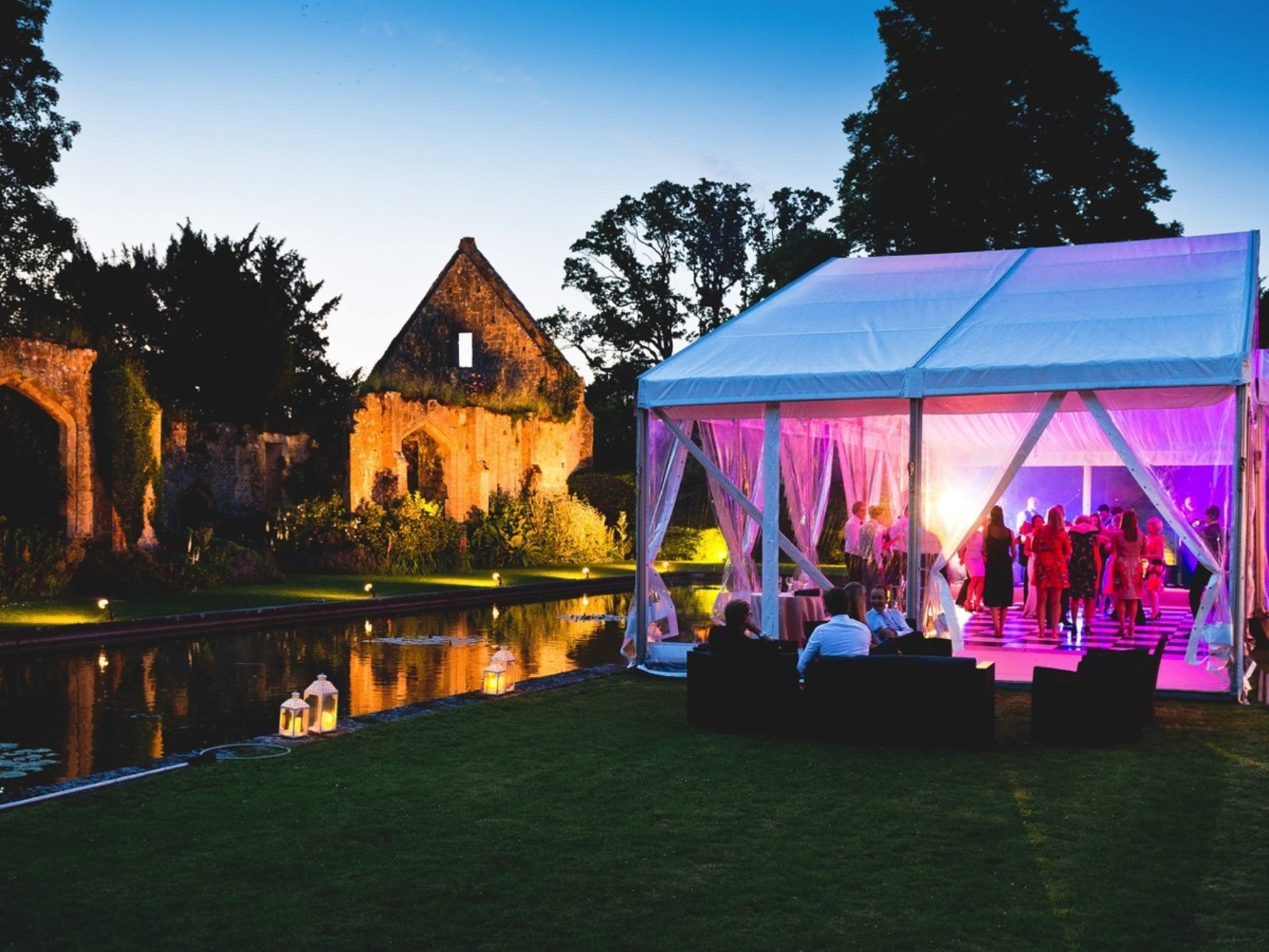 Marquee wedding at Sudeley