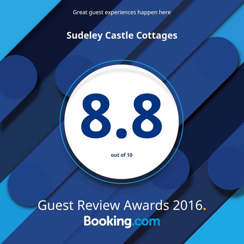8.8 out of 10. Guest Review Awards 2016. Booking.com